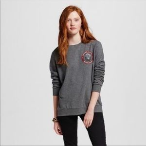 Mighty Fine Grey Smokey Bear Pullover Sweatshirt